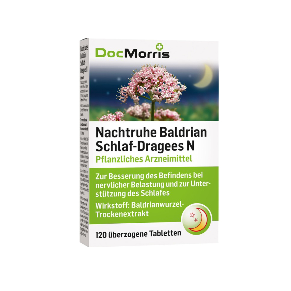 DocMorris Nachtruhe Baldrian Schlaf-Dragees N